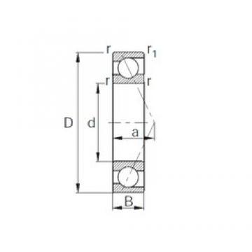 CYSD 7221B angular contact ball bearings