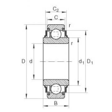 INA 205-KRR deep groove ball bearings