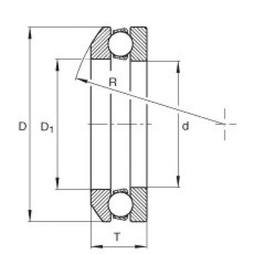 INA 508 thrust ball bearings