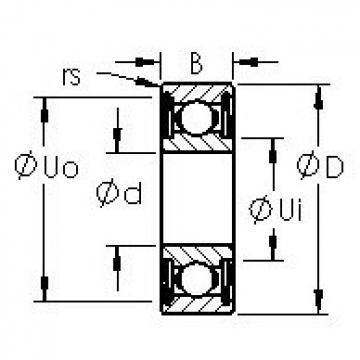 AST 6319ZZ deep groove ball bearings
