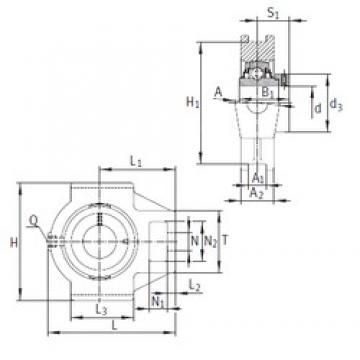 INA RTUE90 bearing units
