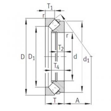 INA 293/670-E1-MB thrust roller bearings