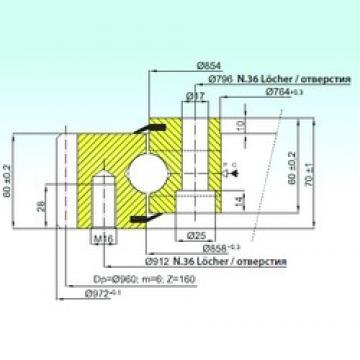 ISB EB1.25.0856.200-1STPN thrust ball bearings
