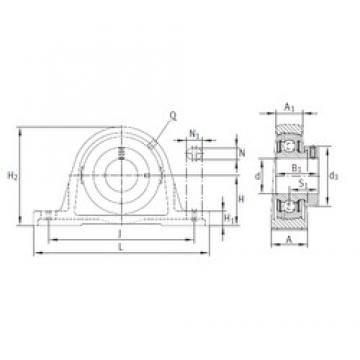 INA PASE45 bearing units
