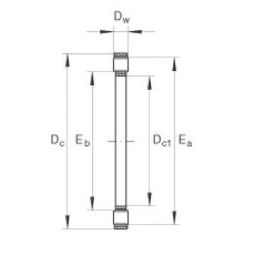 INA K81110-TV thrust roller bearings