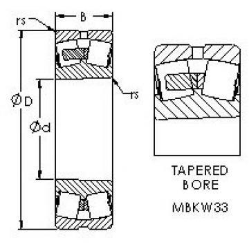AST 23256MBKW33 spherical roller bearings