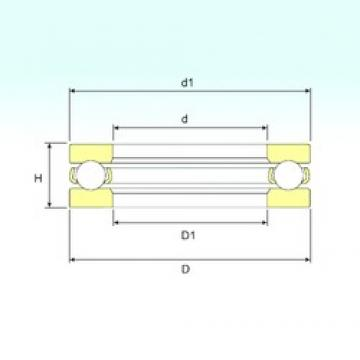 ISB 51192 M thrust ball bearings