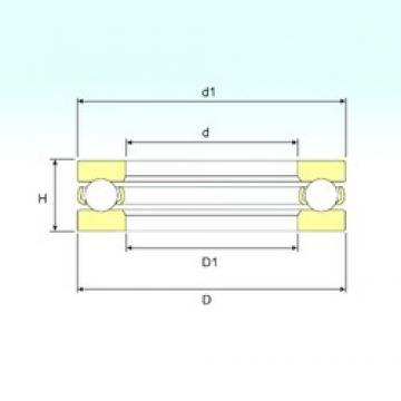 ISB BD1B 634131 thrust ball bearings