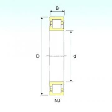 ISB NJ 312 cylindrical roller bearings