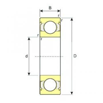 ISB R4AZZ deep groove ball bearings