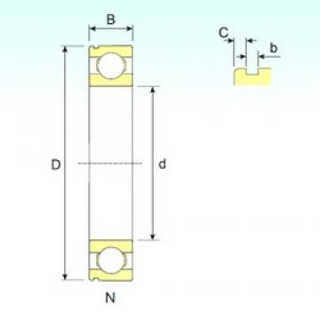 ISB 6211 N deep groove ball bearings
