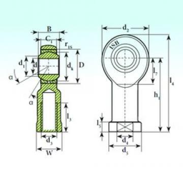 ISB TSF 20 C plain bearings