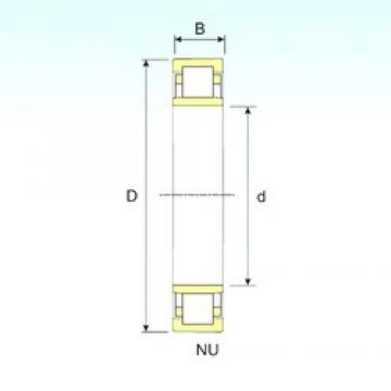 ISB NU 322 cylindrical roller bearings