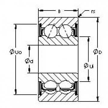 AST 5305ZZ angular contact ball bearings