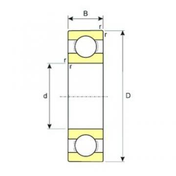 ISB 6338 M deep groove ball bearings