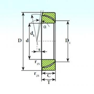 ISB GAC 32 CP plain bearings