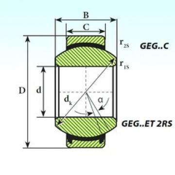 ISB GEG 90 ET 2RS plain bearings