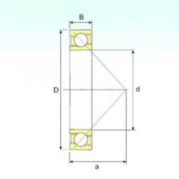 ISB 708/500 A angular contact ball bearings