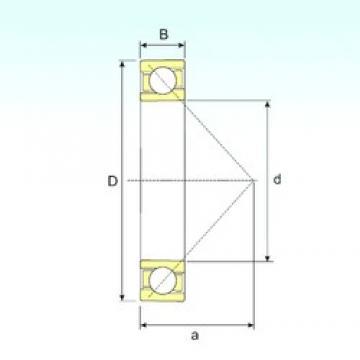 ISB 7238 B angular contact ball bearings