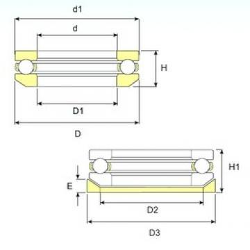 ISB 53317 U 317 thrust ball bearings