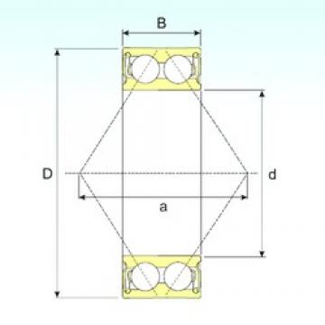 ISB 3205-2RS angular contact ball bearings