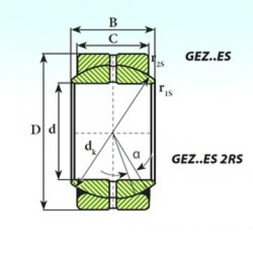 ISB GEZ 88 ES 2RS plain bearings