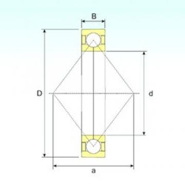 ISB QJ 1022 angular contact ball bearings