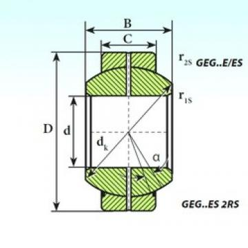 ISB GEG 60 ES 2RS plain bearings