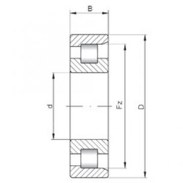 ISO NF317 cylindrical roller bearings