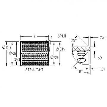 AST ASTT90 6540 plain bearings