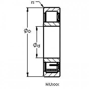 AST NU1012 EM cylindrical roller bearings