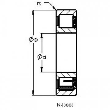 AST NJ405 M cylindrical roller bearings
