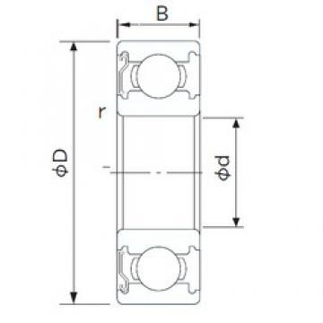 CYSD 6936-Z deep groove ball bearings