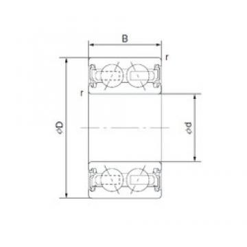 CYSD 4608-3AC2RS angular contact ball bearings