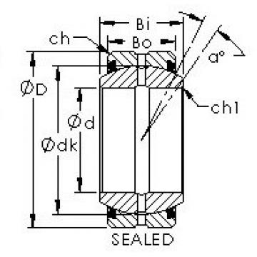 AST GEG280ES-2RS plain bearings