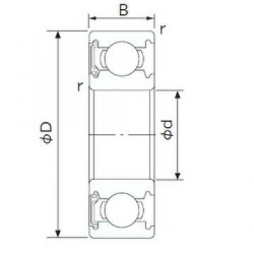 CYSD 6840-RS deep groove ball bearings
