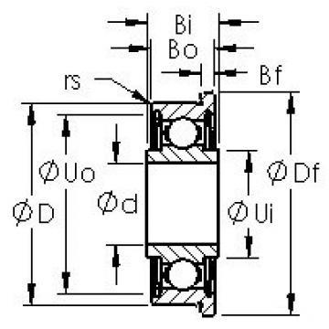 AST FRW4ZZ deep groove ball bearings