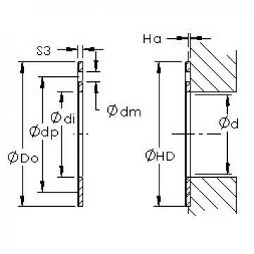 AST AST50 WC22IB plain bearings