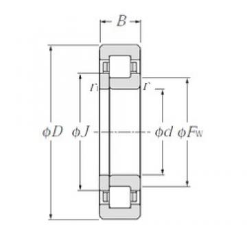 CYSD NUP205E cylindrical roller bearings