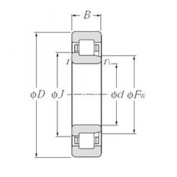 CYSD NJ2317 cylindrical roller bearings