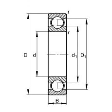 FAG 627 deep groove ball bearings
