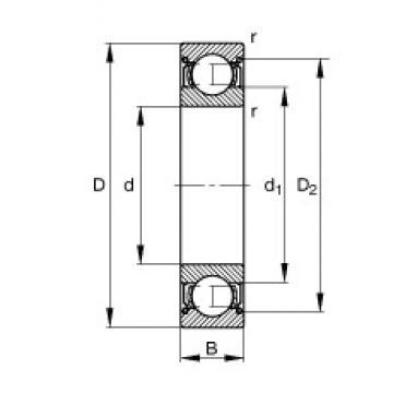 FAG 61826 deep groove ball bearings