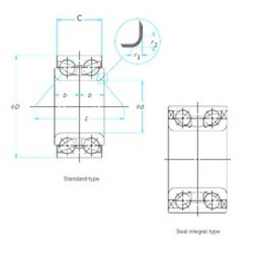 CYSD DAC357202033/31 angular contact ball bearings