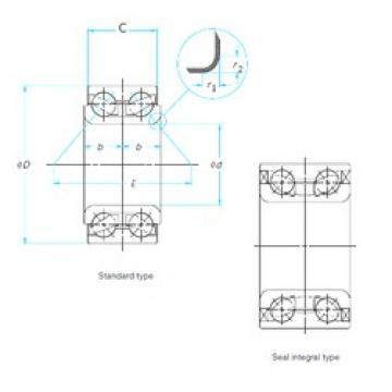 CYSD DAC4076033/28 angular contact ball bearings