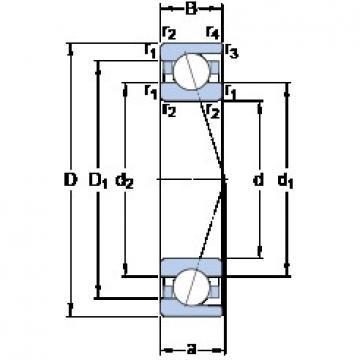 SKF 7205 CD/P4A angular contact ball bearings