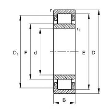 FAG NU238-E-M1 cylindrical roller bearings