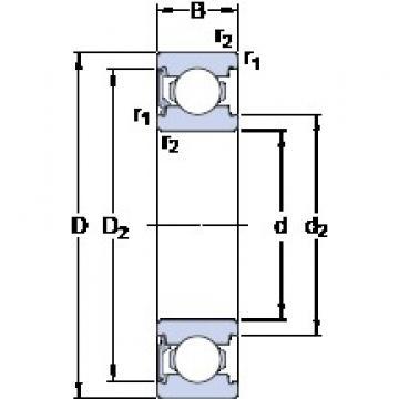 SKF 6203-RSL deep groove ball bearings