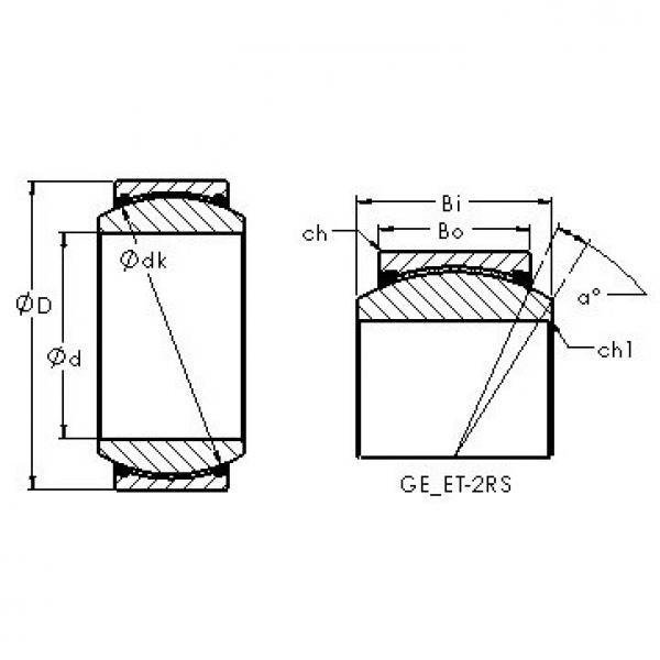 AST GE50ET-2RS plain bearings #2 image