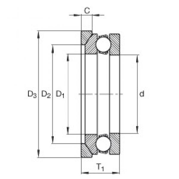 INA 4107-AW thrust ball bearings #3 image