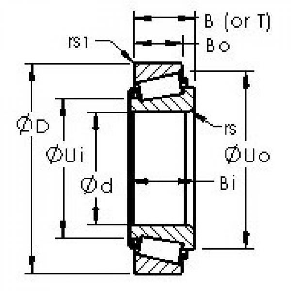 AST JM716649/JM716610 tapered roller bearings #2 image